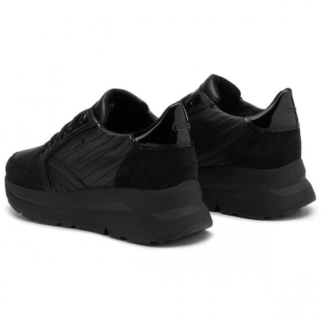 Casual Sneaker Μαύρο Δέρμα με Λουστρίν Φτέρνα 2