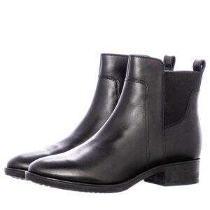 Γυναικεία Παπούτσια Γυναικείο Μποτάκι Μαύρο Δέρμα με Φερμουάρ