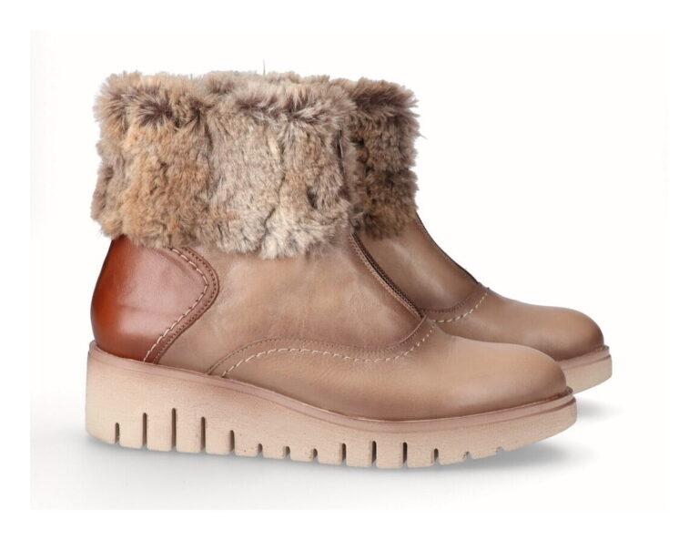 Γυναικεία Παπούτσια Γυναικείο Μποτάκι με Γούνα και Flexible Σόλα