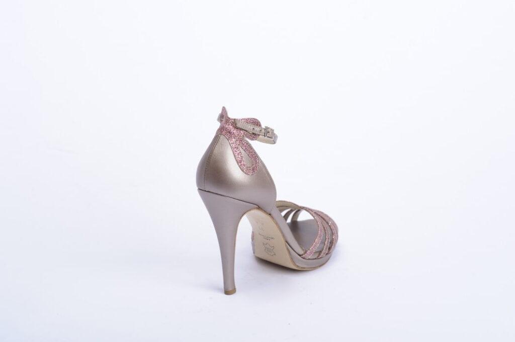 Premium Handmade Πέδιλο Laser Cut με Ροζ Glitter