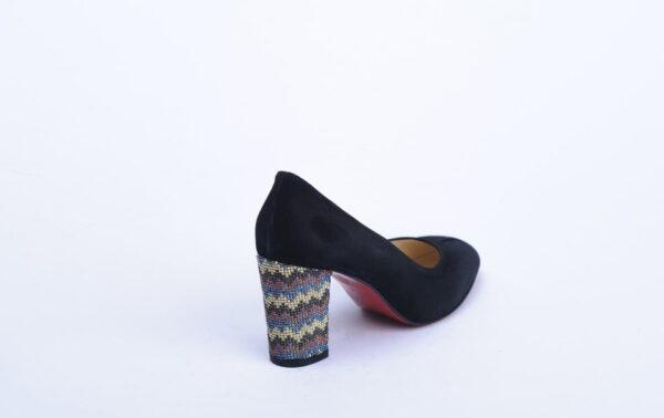 Γυναικεία Παπούτσια Handmade Γόβα με Στρας στο Τακούνι