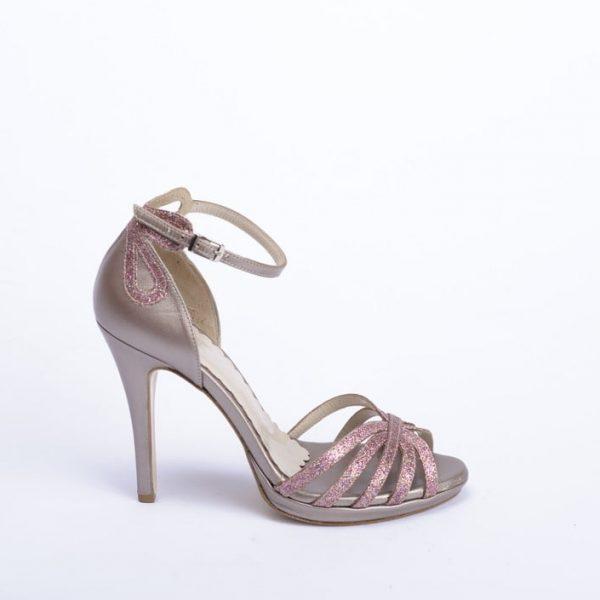 Γυναικείο Πέδιλο με Ροζ Glitter