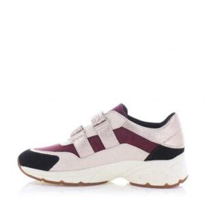 Γυναικεία Παπούτσια Sneaker Τρίχρωμο με Αυτοκόλλητα