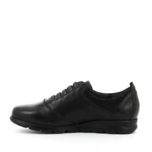 Comfort Sneaker με διακοσμητικά λάστιχα μαύρο