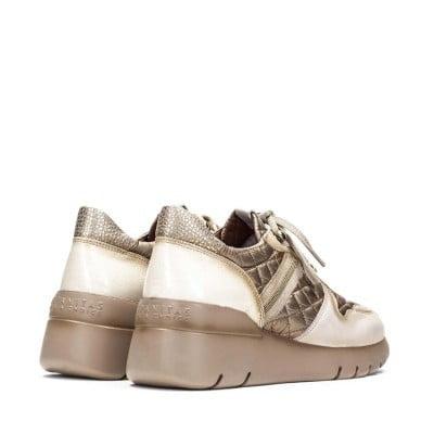Sneakers Γυναικεία Μπέζ Χρυσό 3