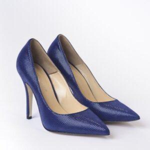 Γυναικεία Παπούτσια Δερμάτινη Blue Snake Print Γόβα