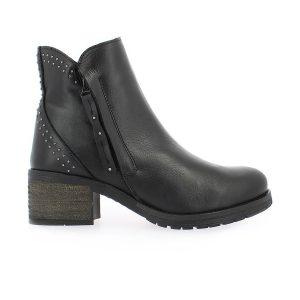 Γυναικεία Παπούτσια Μποτάκι Comfort με Ασημί Λεπτομέρειες στη Φτέρνα