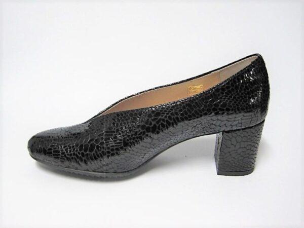 Γυναικεία Παπούτσια Γυναικεία Γόβα Μαύρη Κροκό