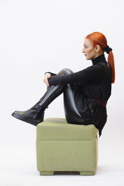 Γυναικείο Μποτάκι Μαύρο Πλατφόρμα
