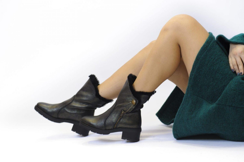 Γυναικείο Μποτάκι Λαδί Με Γούνα | Παπούτσια Γυναικεία