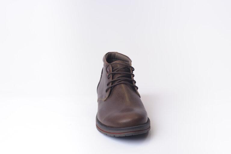 Ανδρικά Παπούτσια Αντρικό Σκαρπίνι Δετό με Μπορντό Λεπτομέρεια