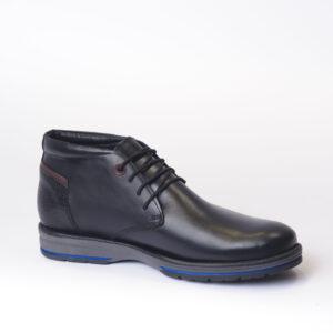 Ανδρικά Παπούτσια Αντρικό Σκαρπίνι Δετό με διακριτική Μπλε λεπτομέρεια