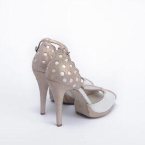 Γυναικεία Παπούτσια Handmade Ivoir Πέδιλο με διαφάνεια και Ιριδίζον Δέρμα