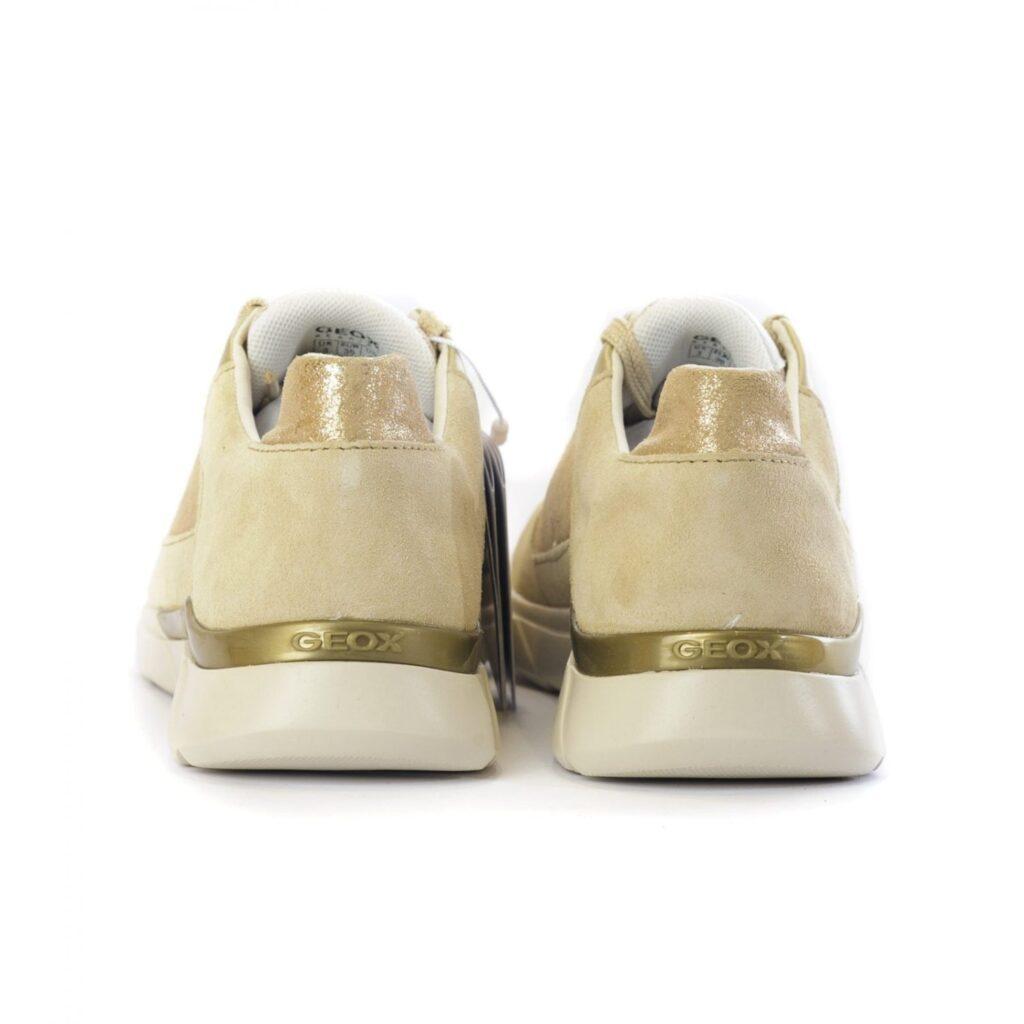 Geox Γυναικείο Sneaker με Gold Λεπτομέρειες