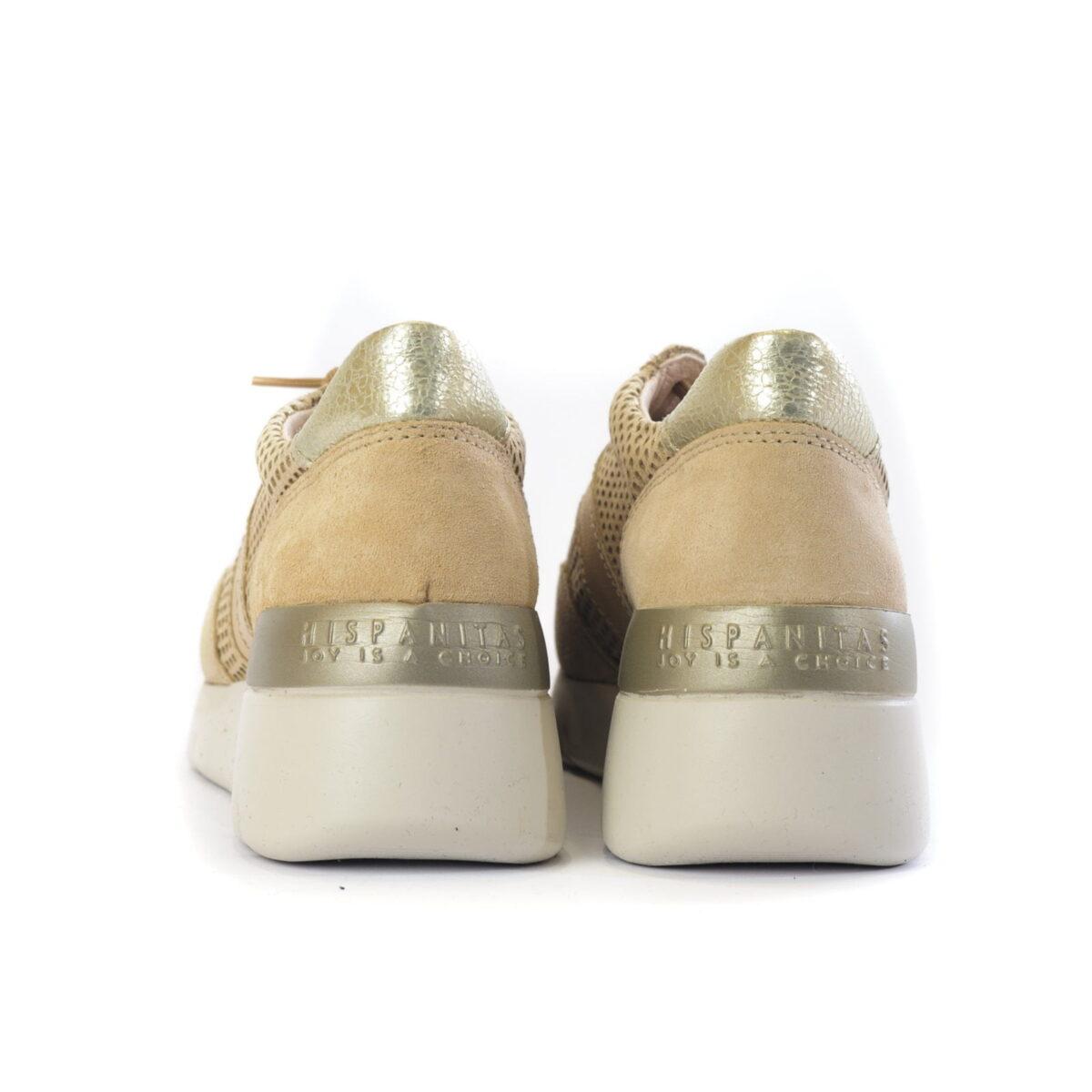 Γυναικεία Casual Sneaker Μπέζ Χρυσό 3