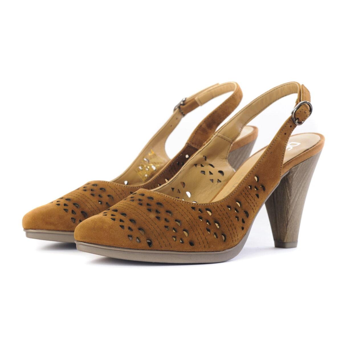 Γυναικεία Παπούτσια Total Flex Εξώφτερνο Πέδιλο με Laser Cut