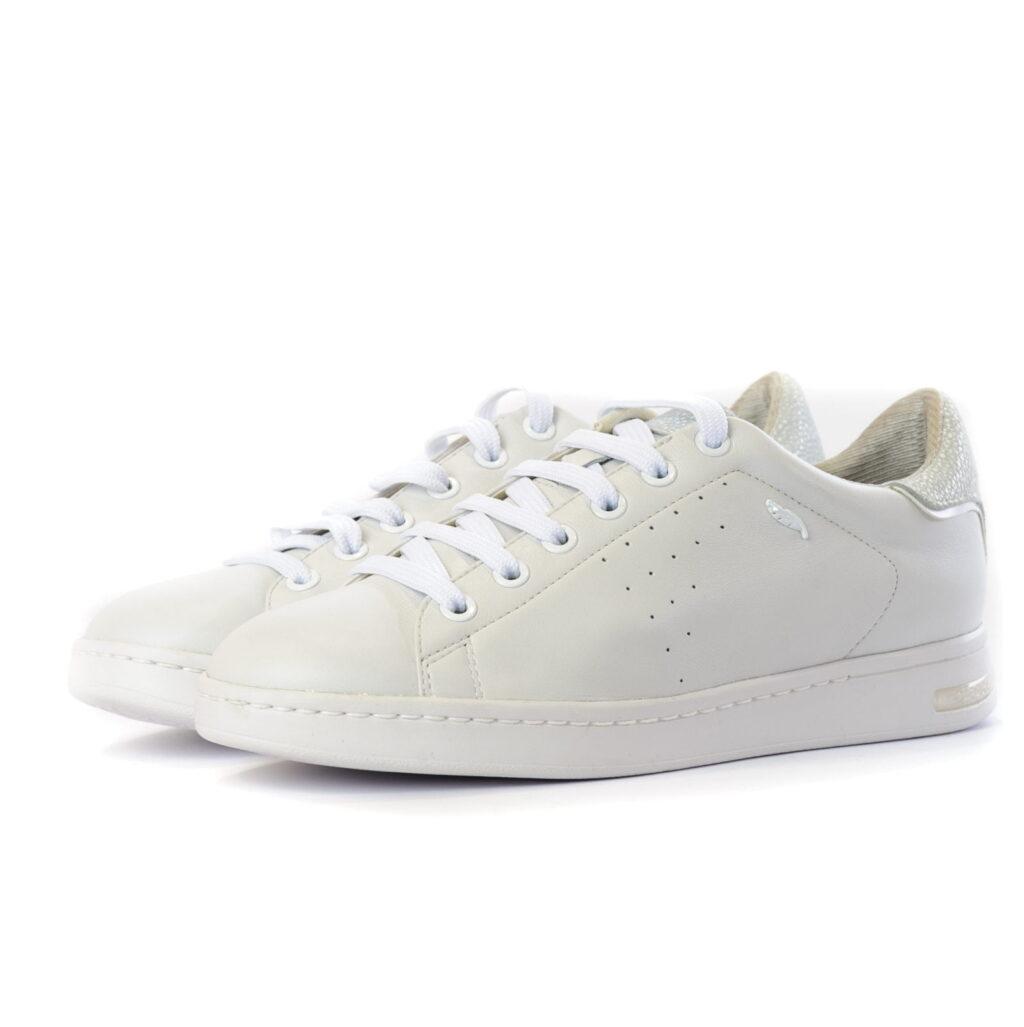 Geox Γυναικείο Sneaker Total White με πολύ Μαλακό Δέρμα
