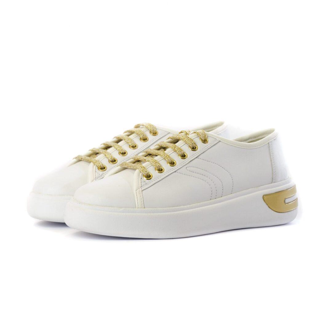 Geox Γυναικεία Sneakers με Χρυσές Λεπτομέρειες