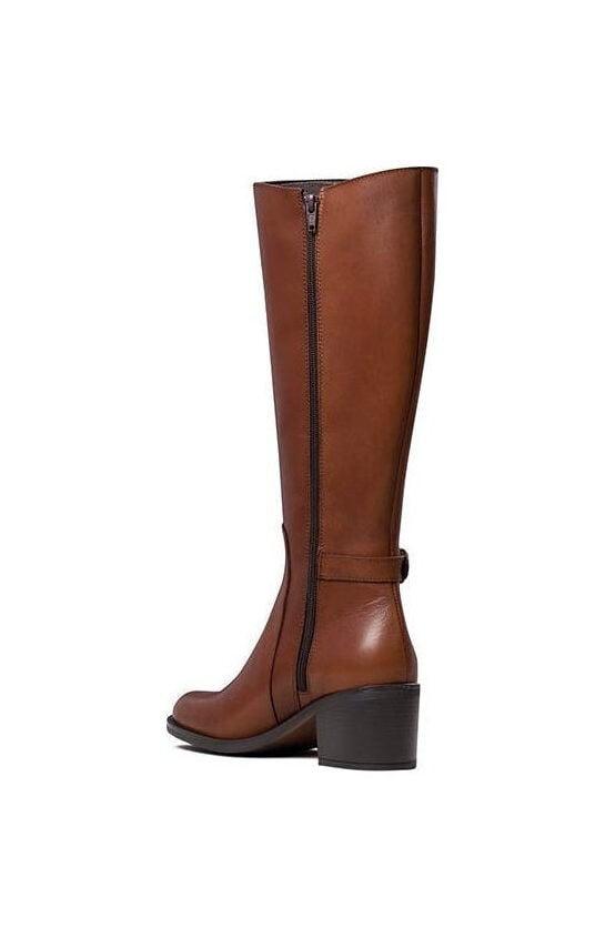 Γυναικεία Παπούτσια Γυναικεία Δερμάτινη Μπότα με Λάστιχα και Τοκά – Ταμπά