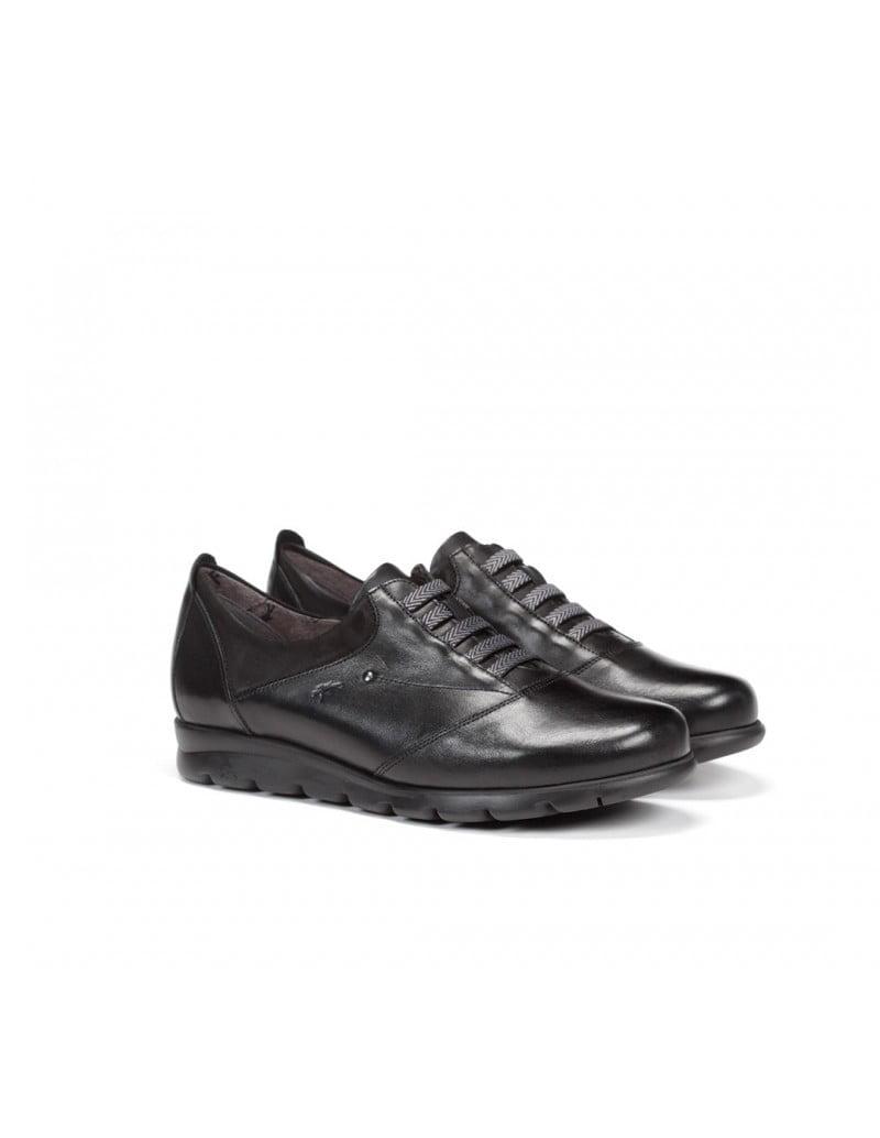 Casual Sneakers Comfort Sneaker με διακοσμητικά λάστιχα μαύρο