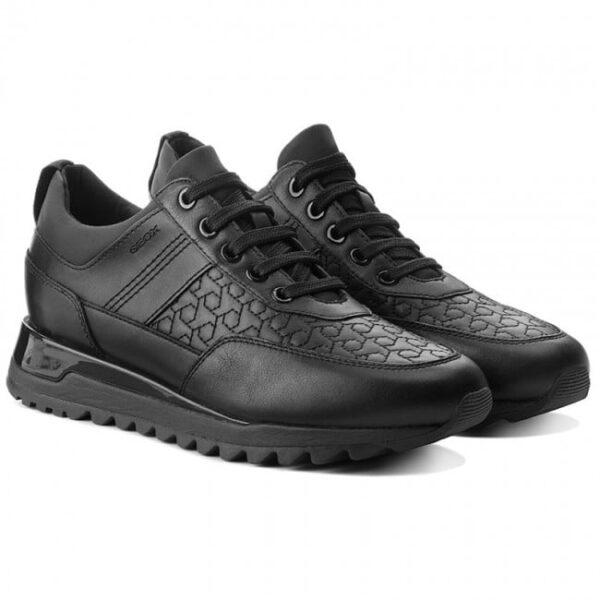 Black Friday 2020 Γυναικείο Sneaker Geox Total Black