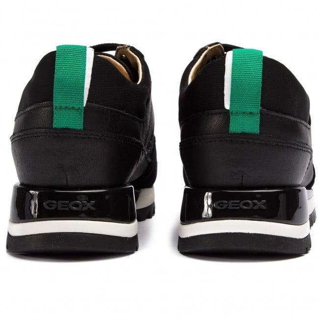 Casual Sneaker με snake print λουστρίν