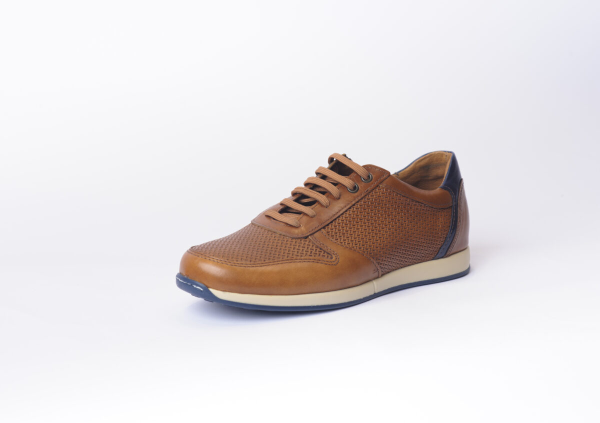Αντρικό Sneaker με Πλεκτό Δέρμα 1