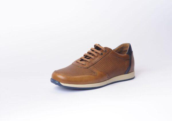 Αντρικό Sneaker με Πλεκτό Δέρμα