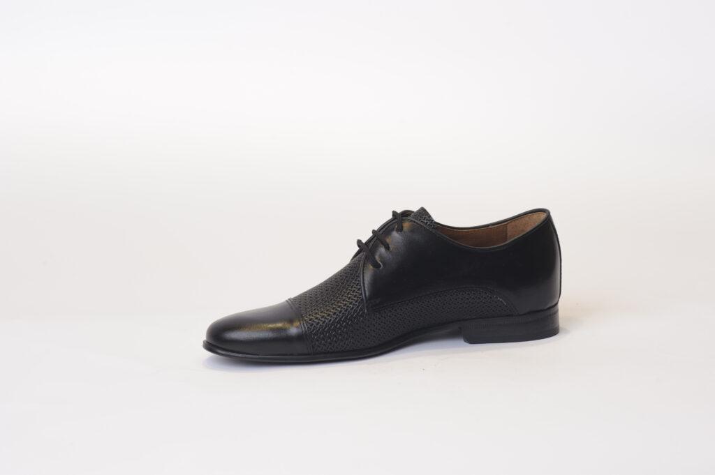Ανδρικά Παπούτσια Αντρικό Δετό Σκαρπίνι με πλεκτό δέρμα