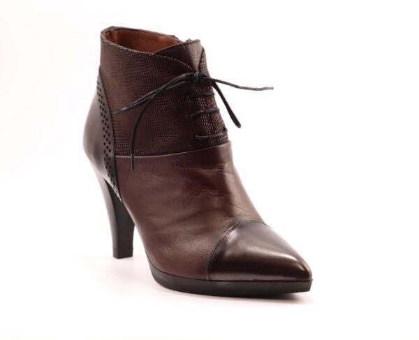 Γυναικεία Παπούτσια Ankle Boots με 3 διαφορετικά δέρματα
