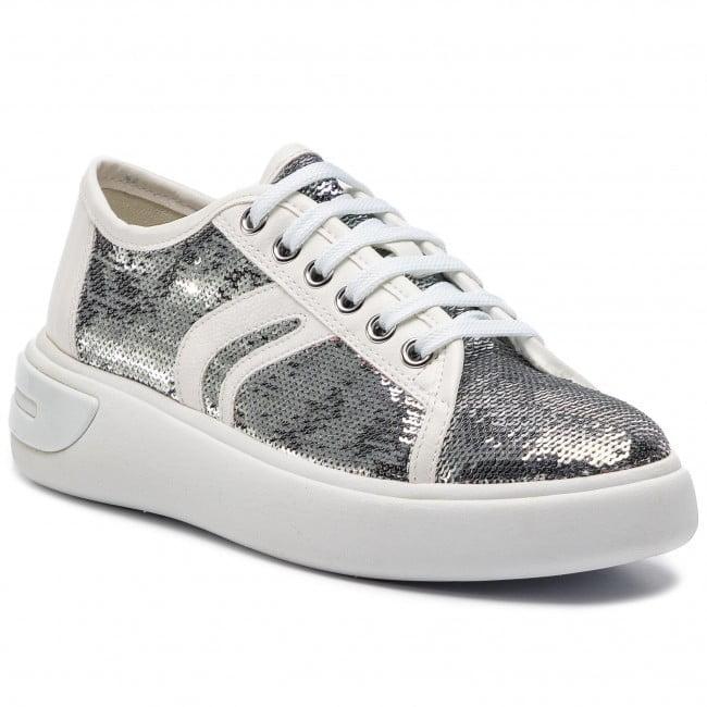 Εντυπωσιακό Sneaker με Ασημί Παγιέτα