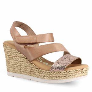 Γυναικεία Παπούτσια Ανατομική Πλατφόρμα με Αυτοκόλλητο