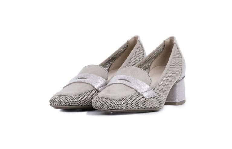 Γυναικεία Παπούτσια Χαμηλό Γοβάκι με Λούρεξ δέρμα