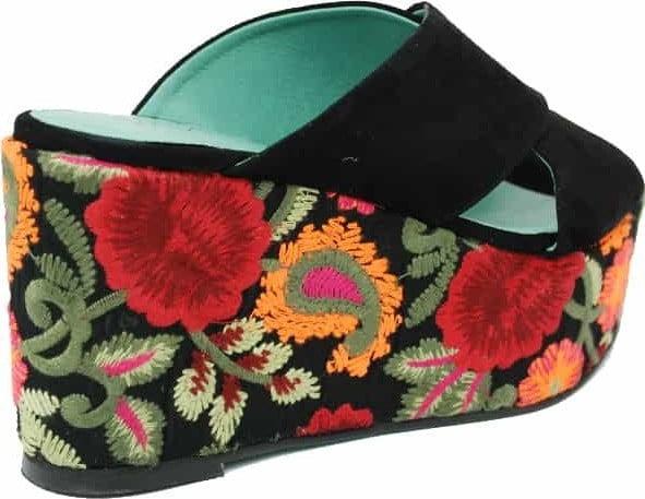 Γυναικεία Παπούτσια Γυναικεία Παντόφλα με Φλοράλ Πάτο