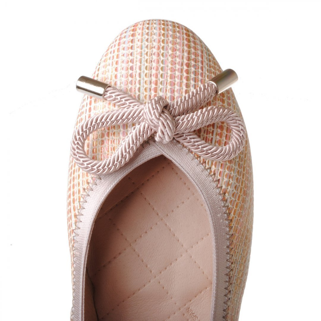 Γυναικεία Παπούτσια Μπαλαρίνα με εντυπωσιακό πολύχρωμο δέρμα