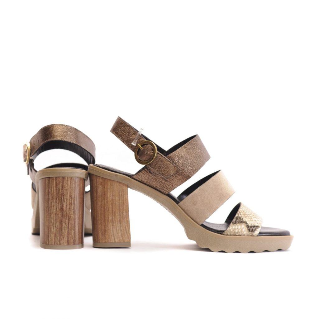 Γυναικεία Παπούτσια Πέδιλο με Λουράκια και Snake Print
