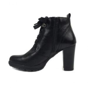 Γυναικεία Παπούτσια Μποτάκια με Φαρδιά Κορδόνια και Φερμουάρ