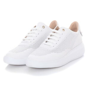 Total White Sneaker με Χρυσά Τρούκς στη Φτέρνα