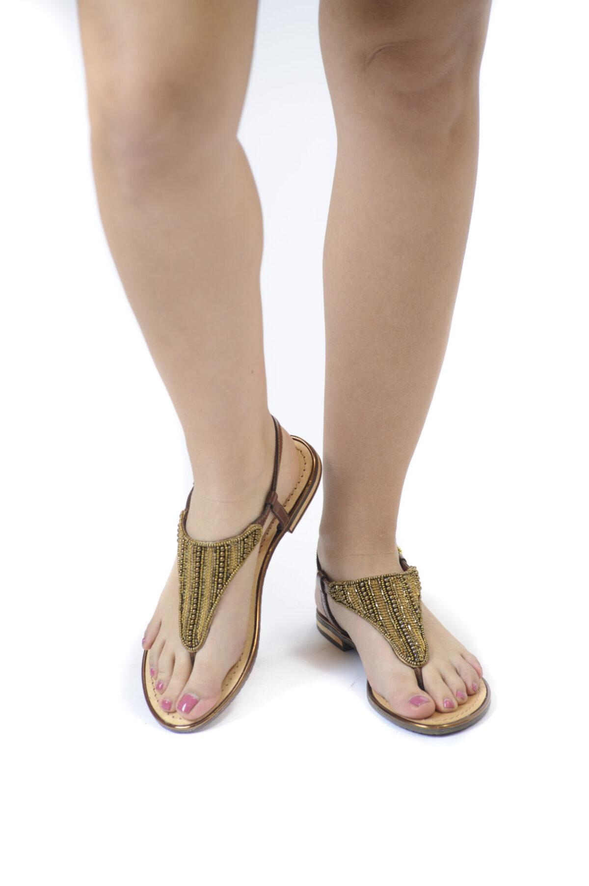 Γυναικεία Παπούτσια Γυναικείο Σανδάλι Διχάλα με Στρας