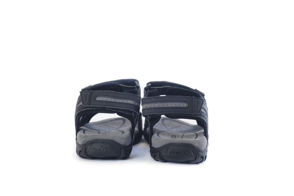 Ανδρικά Παπούτσια Geox Αντρικά Σανδάλια με Αυτοκόλλητα – Μαύρο