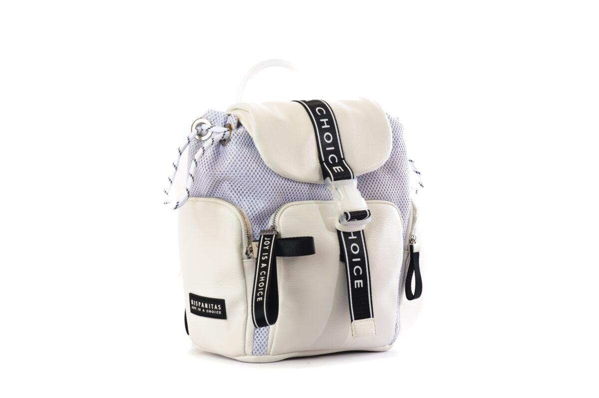 Γυναικεία Luxury Backpack με Δέρμα και Ύφασμα 4