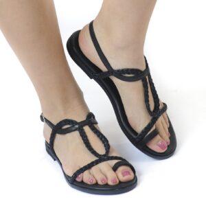 Γυναικεία Παπούτσια Flat Πέδιλο με Δέσιμο απο Σκοινί