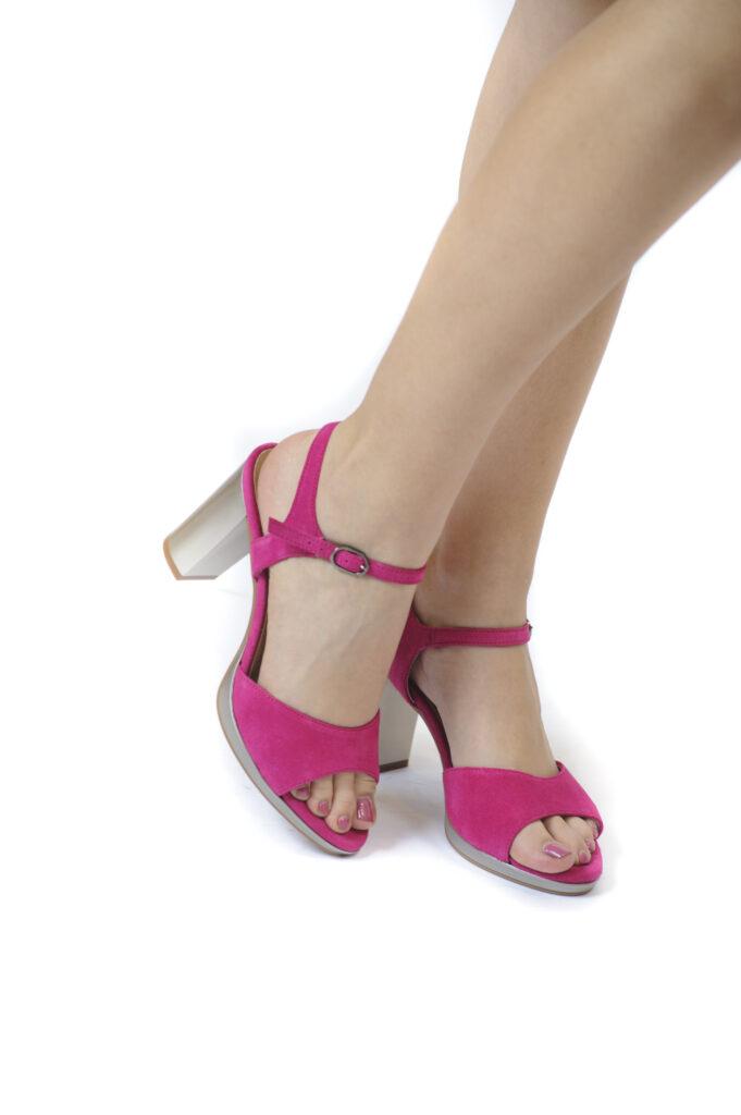 Γυναικεία Παπούτσια Γυναικείο Πέδιλο με Ασημί Τακούνι