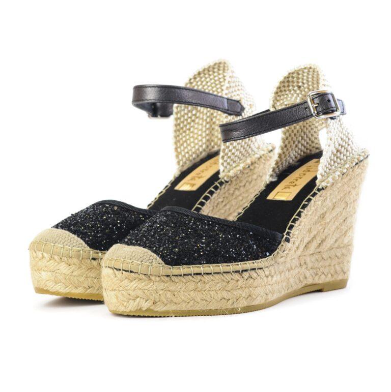 Γυναικεία Παπούτσια Γυναικεία Εσπαντρίγια με Μαύρο Glitter