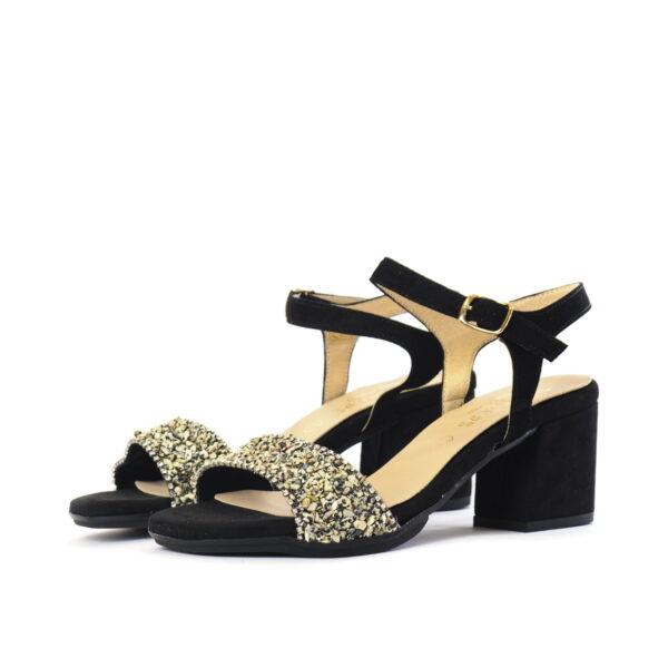 Γυναικεία Παπούτσια Γυναικείο Πέδιλο με Εντυπωσιακές Πέτρες
