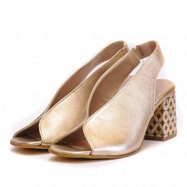 Γυναικεία Παπούτσια Γυναικείο Πέδιλο με Σχεδιασμένο Τακούνι