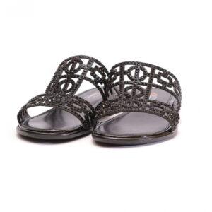 Γυναικεία Παπούτσια Flat Παντόφλα με Διακριτικά Στρας