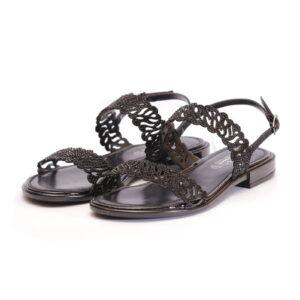 Γυναικεία Παπούτσια Χαμηλά Σανδάλια με Διακριτικά Στρας