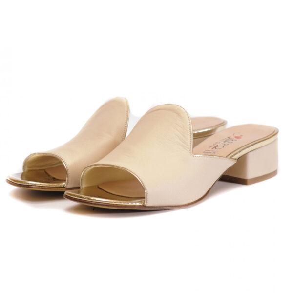 Γυναικεία Παπούτσια Γυναικεία Mule Παντόφλα με Μαλακό Δέρμα