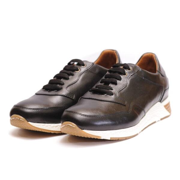 Αντρικό Sneaker Μαύρο με Άσπρη Κροκό Σόλα